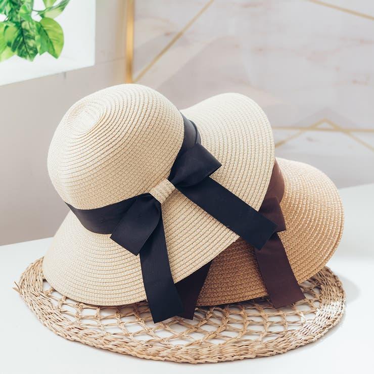 レディースファッション通販グログランリボンのシンプルハットハット 帽子 麦わら帽子 | Ruby's Collection  | 詳細画像1