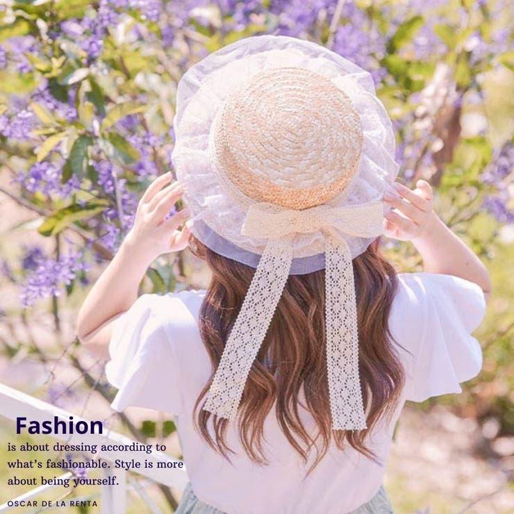 チュールレースカンカン帽 帽子 ハット   Ruby's Collection    詳細画像1