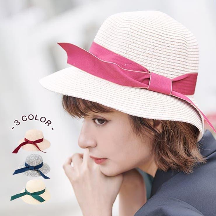 リボンデザインストローハット 帽子 麦わら帽子 | Ruby's Collection  | 詳細画像1