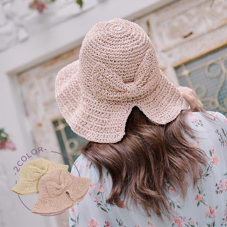 リボンデザインクロッシェ帽子 シンプル ハット | Ruby's Collection  | 詳細画像1