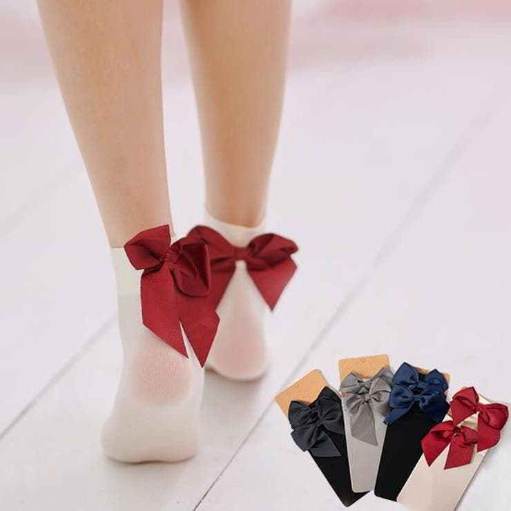 ビッグリボンソックス ショートソックス 靴下   Ruby's Collection    詳細画像1