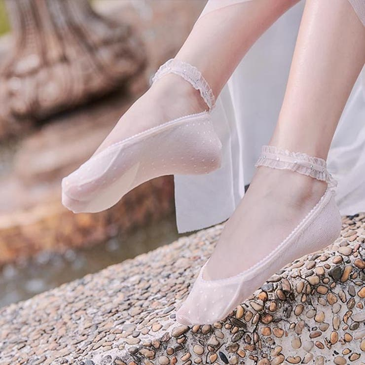 アンクルストラップ付きガーリーフットカバー 靴下 ソックス | Ruby's Collection  | 詳細画像1