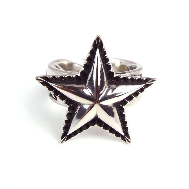 SBG 銀 シンプル スター リング 指輪 シルバー 星 メンズ