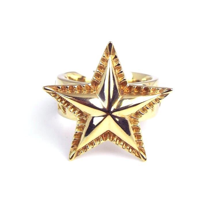 SBG 金 シンプル スター リング 指輪 ゴールド 星 メンズ