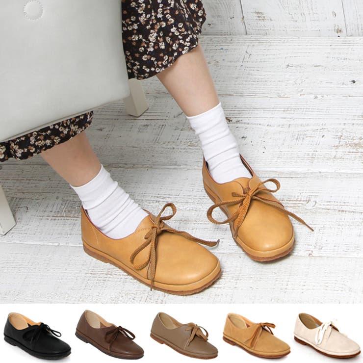 ナチュラル靴 ワンアイレットクレープソールシューズ | Scramble | 詳細画像1