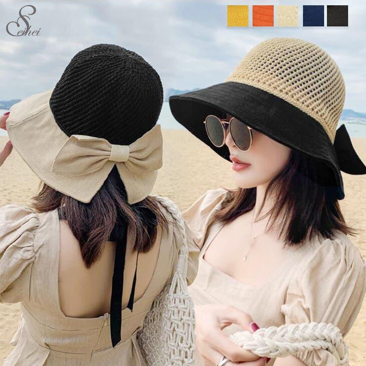 リボン帽子 レディース 紫外線   seiheishop   詳細画像1