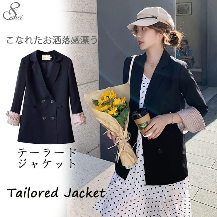 韓国ファッション テーラードジャケット レディース   seiheishop   詳細画像1
