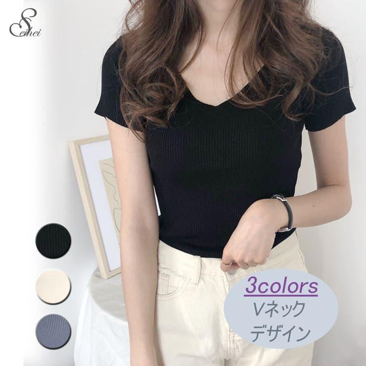 韓国ファッション サマーニット カットソー | seiheishop | 詳細画像1