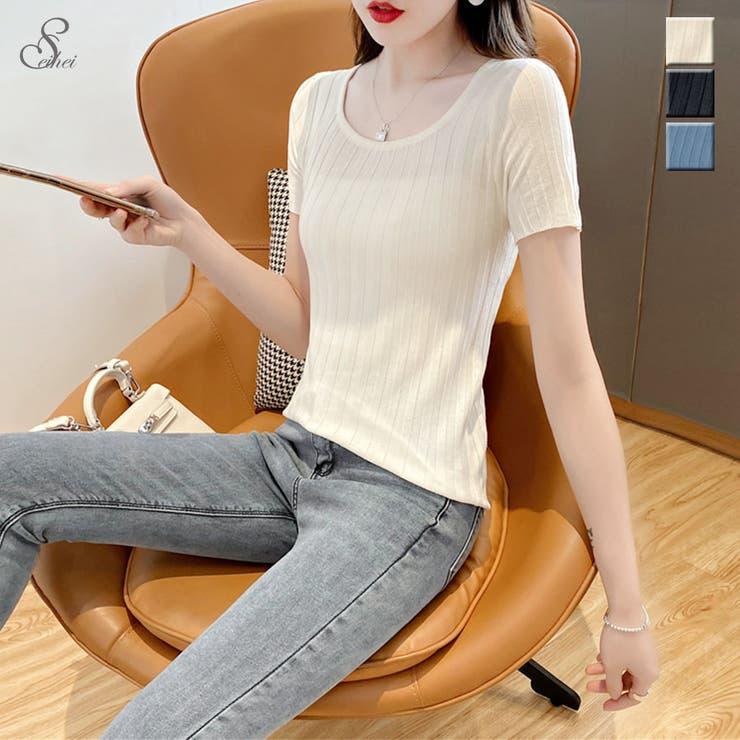 韓国ファッション スクエアネックTシャツ カットソー | seiheishop | 詳細画像1