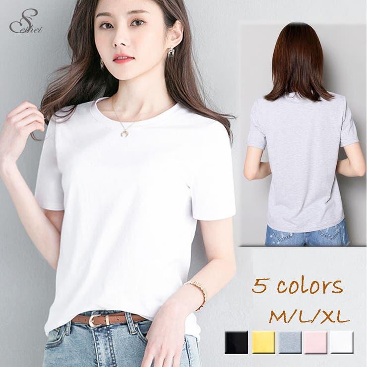 韓国ファッション ベーシックTシャツレディース ゆるカットソー   seiheishop   詳細画像1