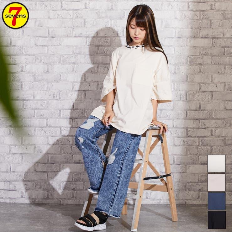 249584 牛柄リブビッグTシャツ レディースファッション   sevens   詳細画像1
