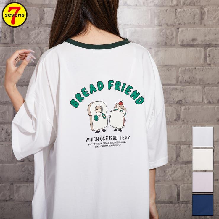 249659 ブレッドフレンズプリントリンガービッグT レディースファッション | sevens | 詳細画像1