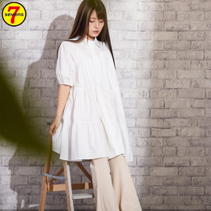 G2106030025 ティアードミニワンピース レディースファッション | sevens | 詳細画像1