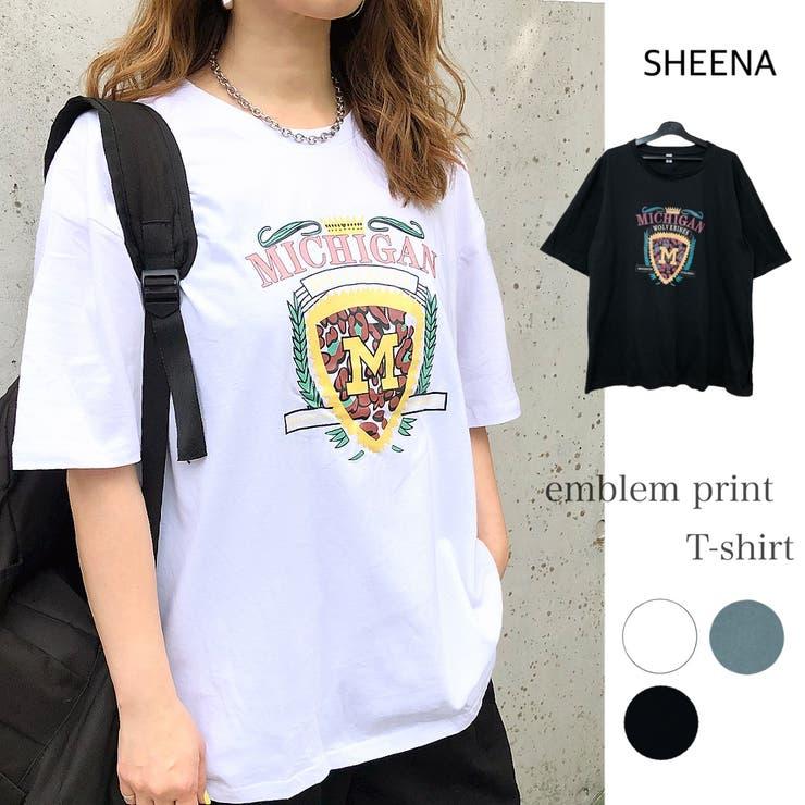 エンブレムプリントTシャツ 春 夏 | SHEENA  | 詳細画像1