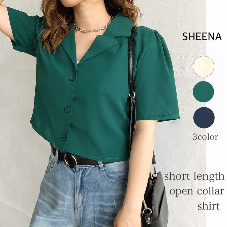 3釦短丈開襟半袖シャツ 春 夏 | SHEENA  | 詳細画像1