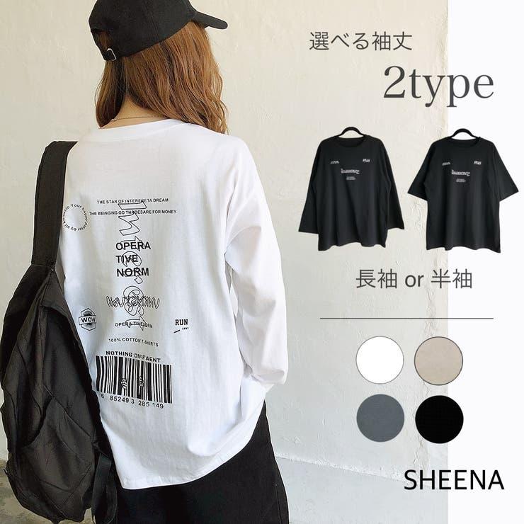バックプリントルーズTシャツ ロンT Tシャツ | SHEENA  | 詳細画像1