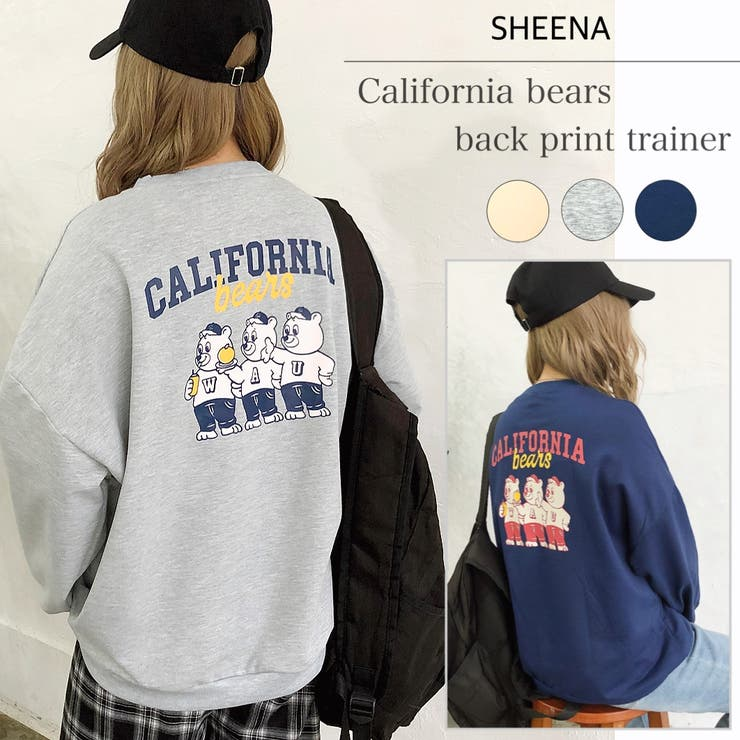 CALIFORNIA bearsバックプリントトレーナー 秋 | SHEENA  | 詳細画像1
