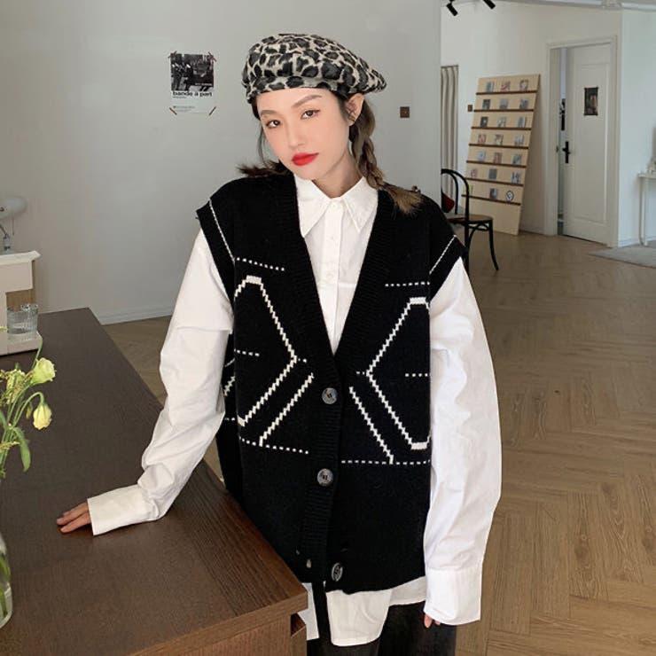 ニットベスト 韓国ファッション 人気アイテム   Sibra   詳細画像1