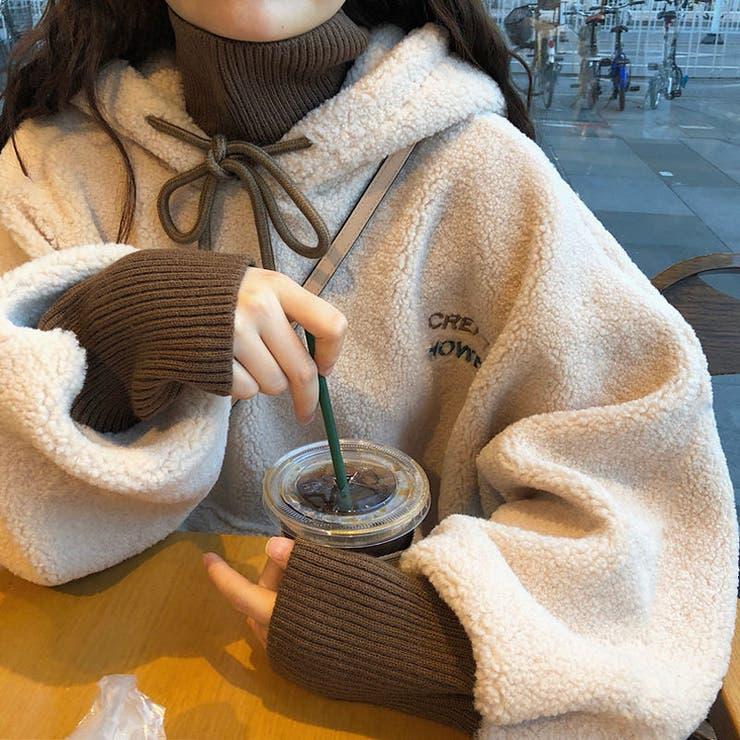 ボアプルオーバーパーカー 韓国ファッション 可愛い | Sibra | 詳細画像1