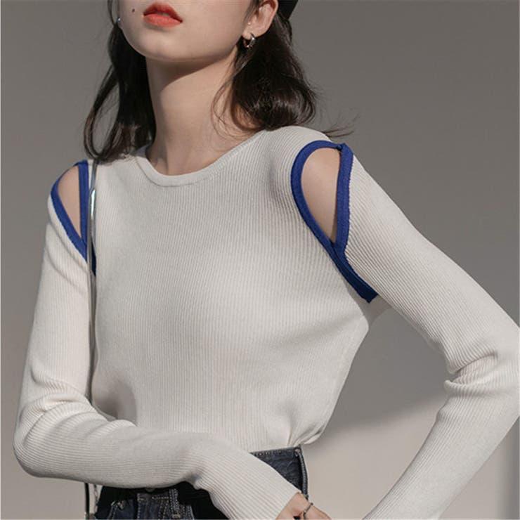 ニットトップス 韓国ファッション シンプル | Sibra | 詳細画像1