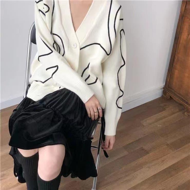 ニットカーディガン 韓国ファッション お洒落 | Sibra | 詳細画像1