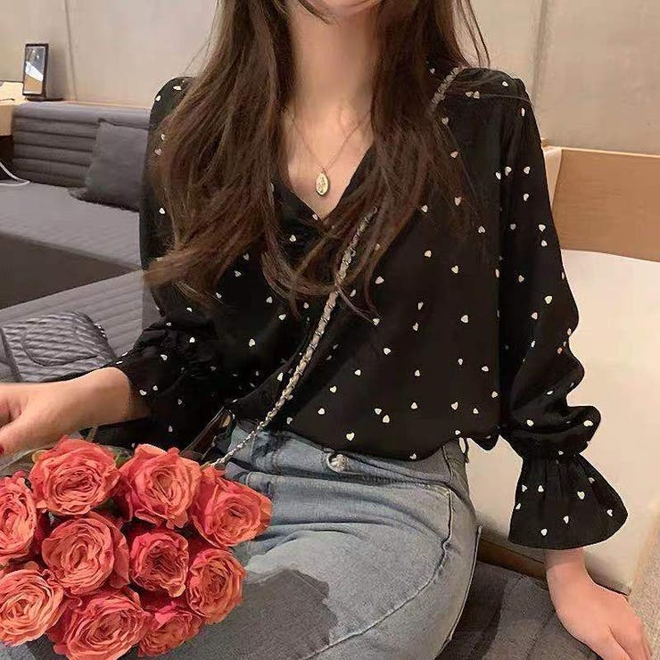 Vネックブラウス 韓国ファッション 人気 | Sibra | 詳細画像1