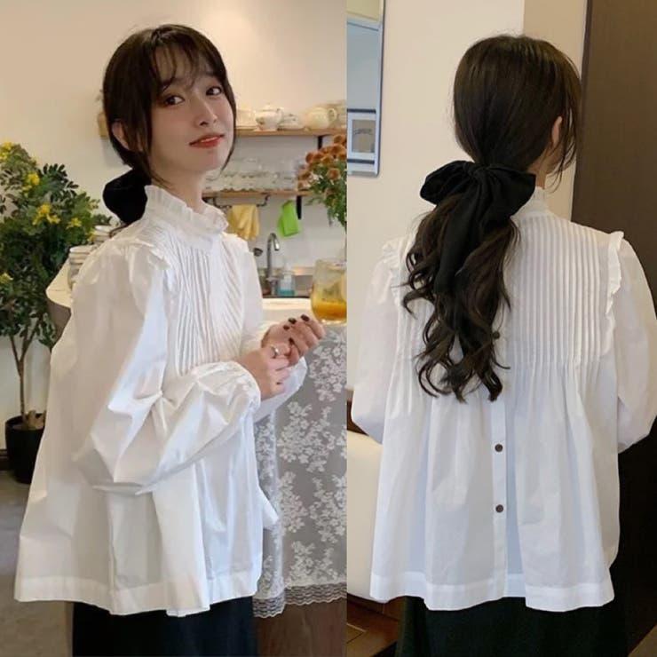 3wayボリューム感長袖ブラウス 韓国ファッション 涼しい | Sibra | 詳細画像1