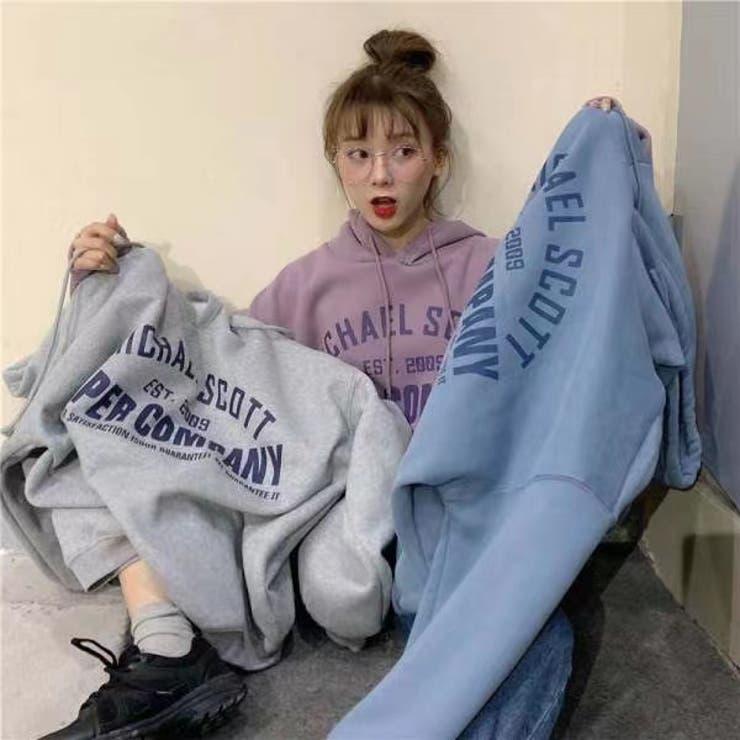長袖カジュアルパーカー 韓国ファッション 大きいサイズ   Sibra   詳細画像1