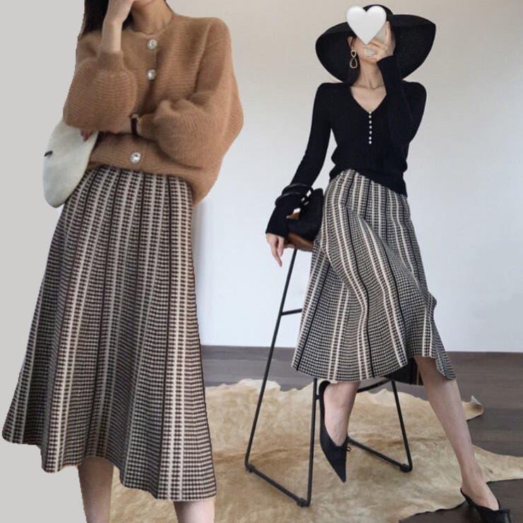 ロングニットスカート 韓国ファッション 韓国 | Sibra | 詳細画像1