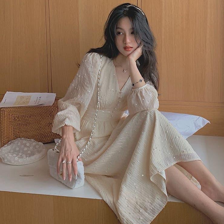 パールボダンワンピース 韓国ファッション 韓国 | Sibra | 詳細画像1