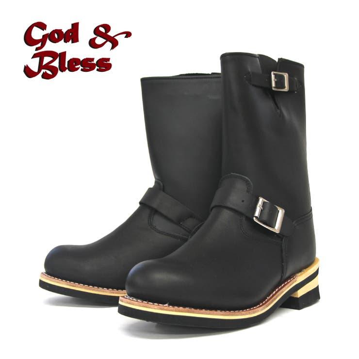 【G&B】本格エンジニアブーツ GB-9810A ブラック /靴   en bridge    詳細画像1