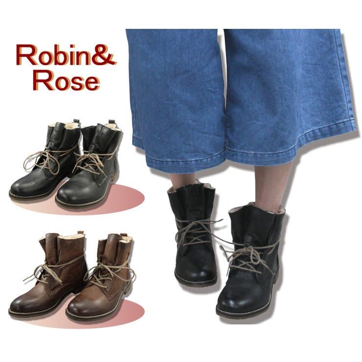 【Robin&Rose】本革あったかもこもショートこブーツ  142810 | en bridge | 詳細画像1