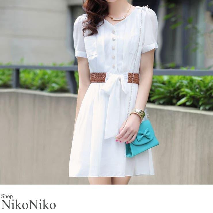 ShopNikoNikoのワンピース・ドレス/シフォンワンピース   詳細画像
