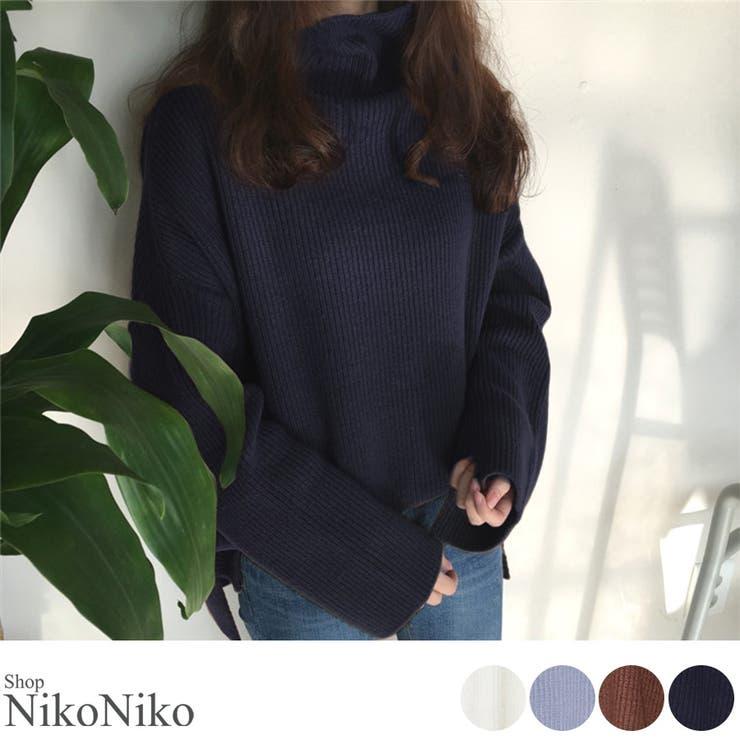 秋新作 ボトルネックニット トップス | ShopNikoNiko | 詳細画像1