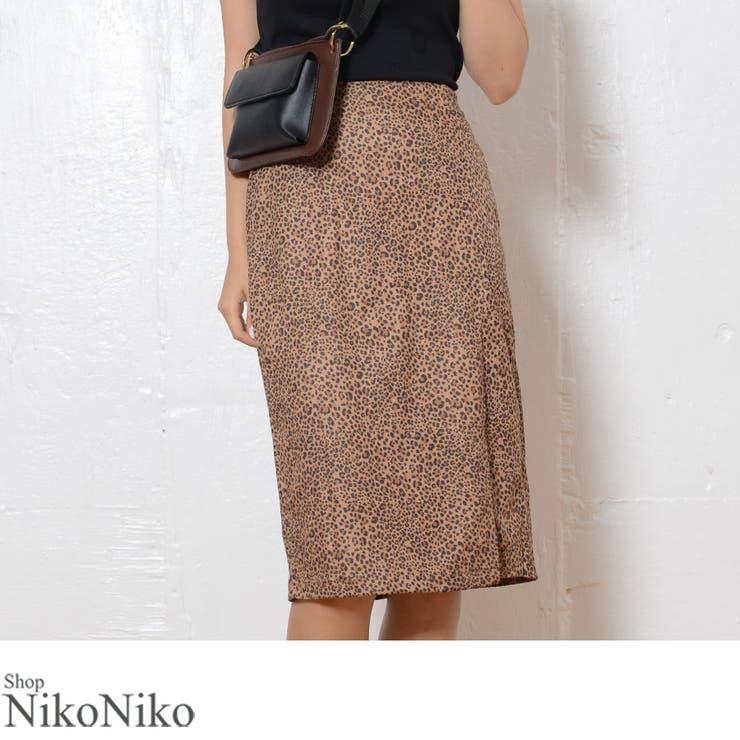 秋新作 豹柄Iラインスカート ma | ShopNikoNiko | 詳細画像1