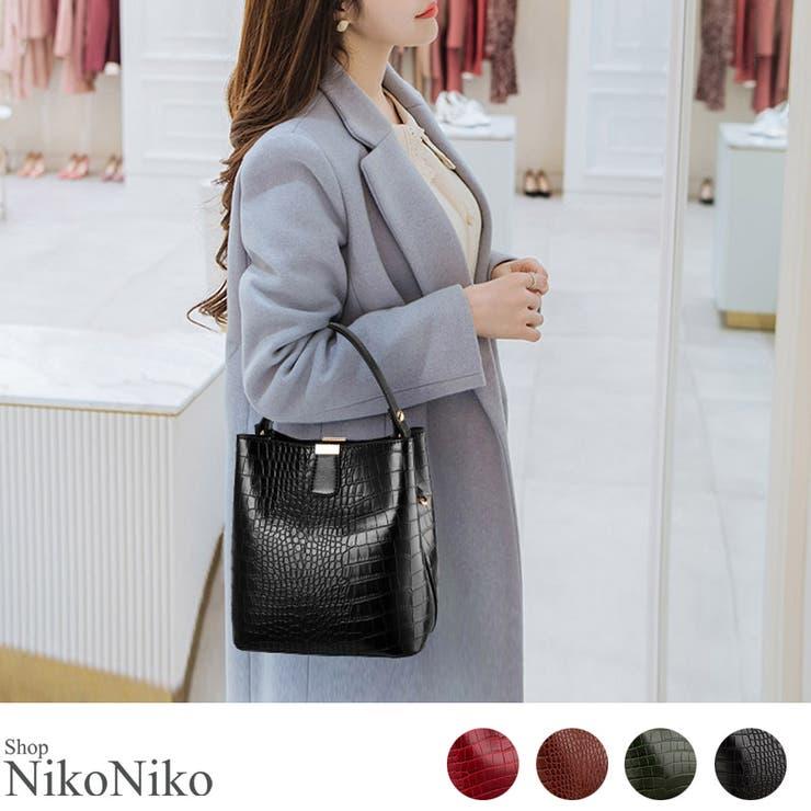 秋新作 2wayクロコショルダー バッグ | ShopNikoNiko | 詳細画像1