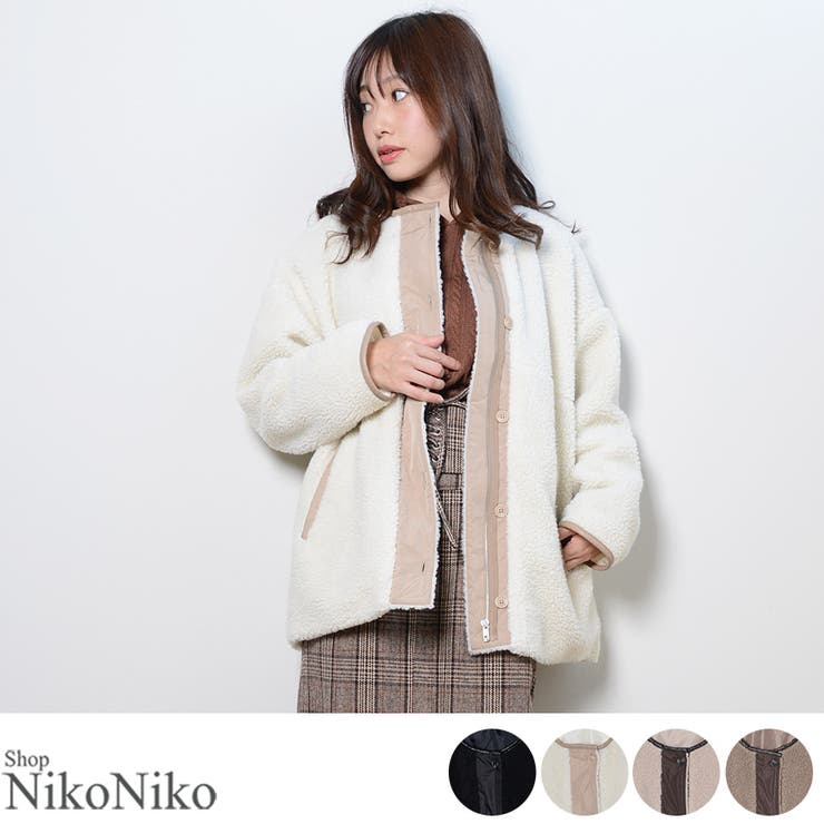 ShopNikoNikoのアウター(コート・ジャケットなど)/ノーカラージャケット   詳細画像