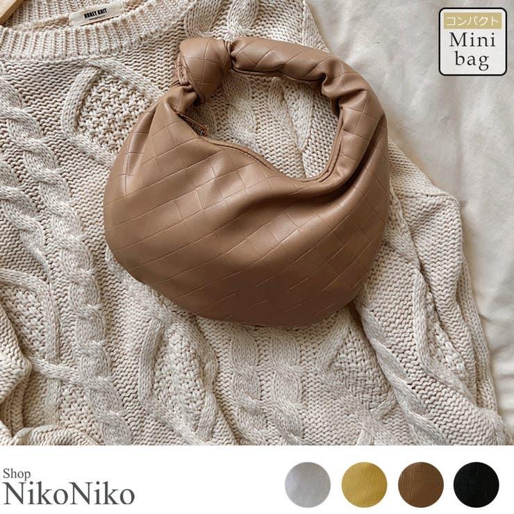 秋新作 ミニ ノットワンハンドルバッグ | ShopNikoNiko | 詳細画像1