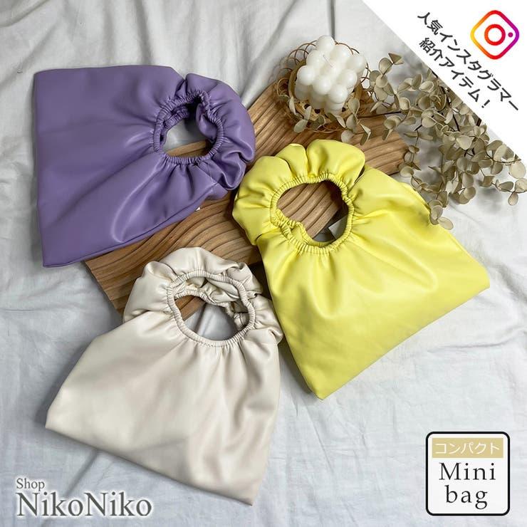 秋新作 ギャザーハンドル ミニバッグ | ShopNikoNiko | 詳細画像1