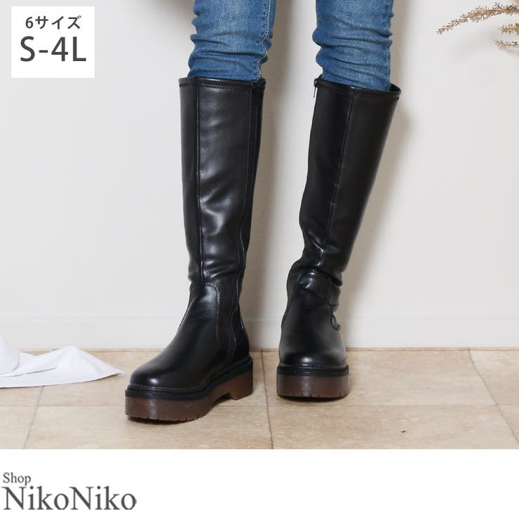 秋新作 厚底 ロングブーツ | ShopNikoNiko | 詳細画像1
