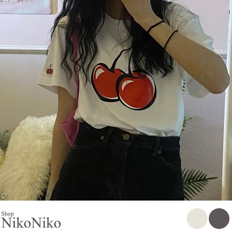 秋新作 チェリー Tシャツ   ShopNikoNiko   詳細画像1