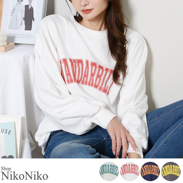 秋新作 カレッジロゴ プルオーバー | ShopNikoNiko | 詳細画像1
