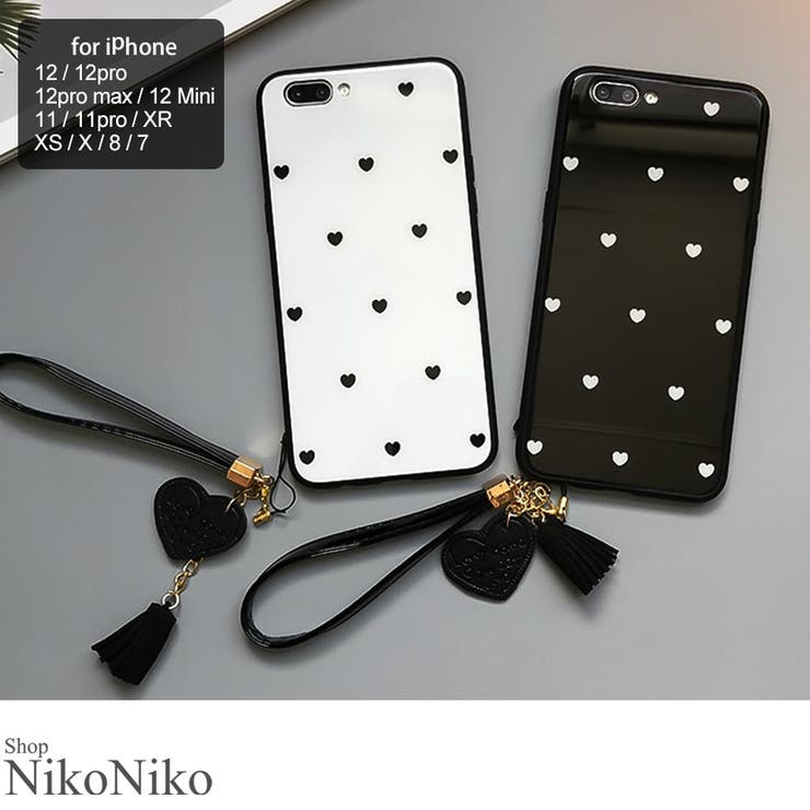 夏新作 ハート柄 ストラップ付 | ShopNikoNiko | 詳細画像1
