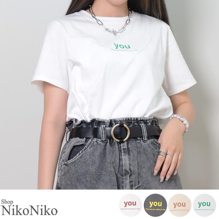 秋新作 ロゴTシャツ ma   ShopNikoNiko   詳細画像1