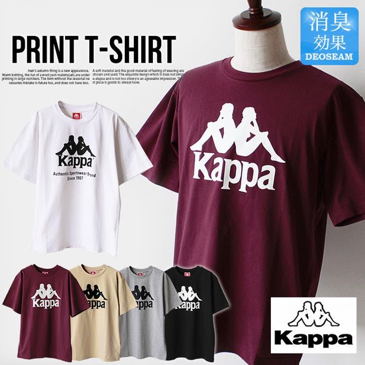 メンズKappaカッパTシャツ半袖トップスクルーネック天竺コットン綿消臭機能レディースユニセックススポーツストリート | 詳細画像