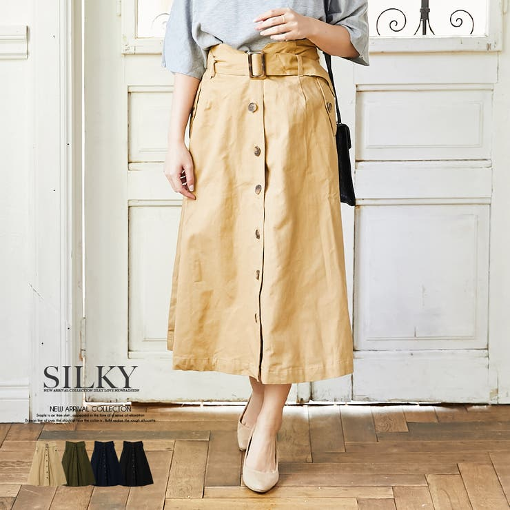 Silkyのスカート/ひざ丈スカート   詳細画像