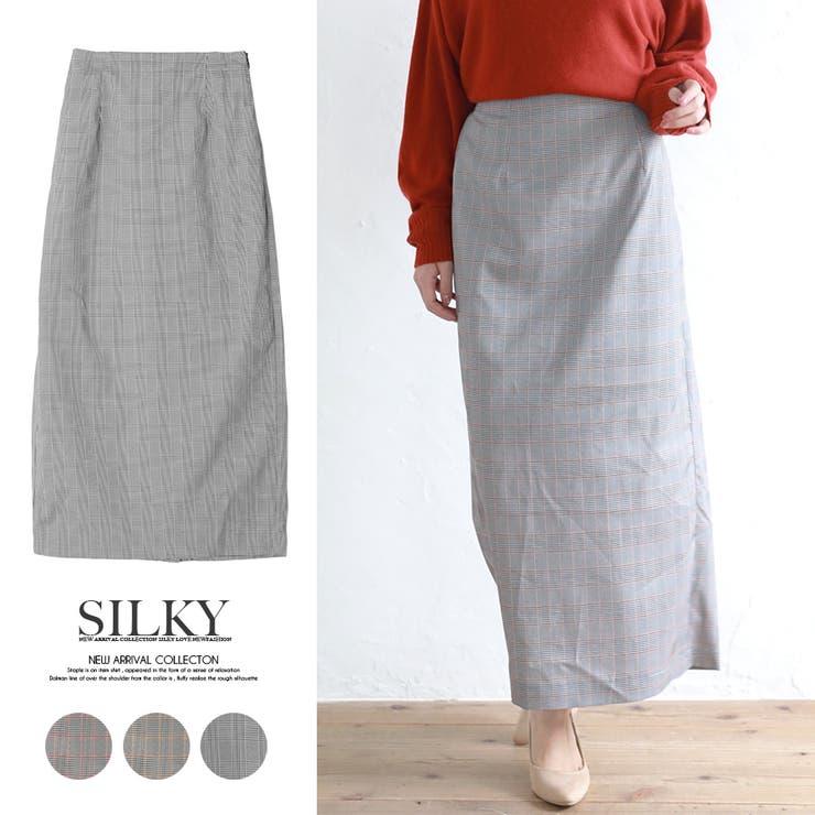 グレンチェックタイトスカート/秋冬 | Silky | 詳細画像1