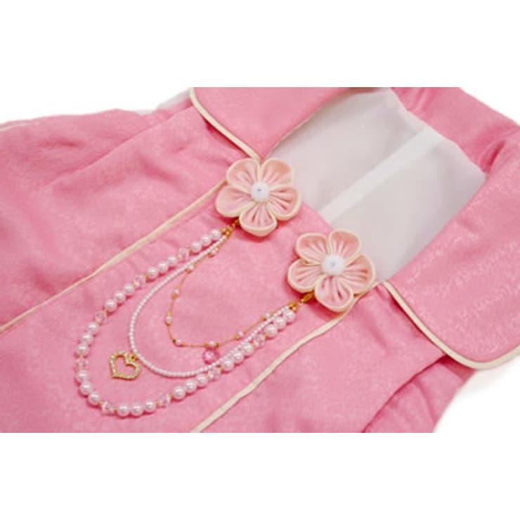 七五三やひな祭り、お正月にオススメな3歳用着物ピンク被布 | 詳細画像