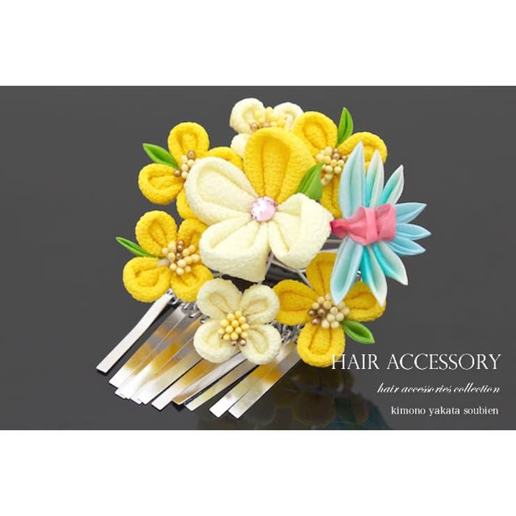 成人式の振袖に☆つまみ細工の花の髪飾り   詳細画像