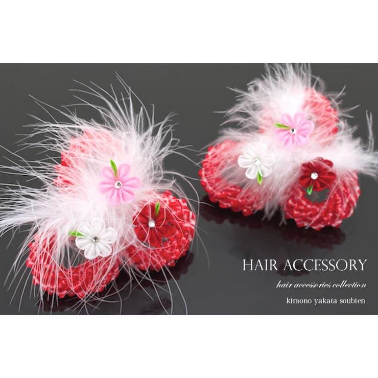 3歳と7歳のお祝いに☆つまみ細工の花の髪飾り2点セット   詳細画像